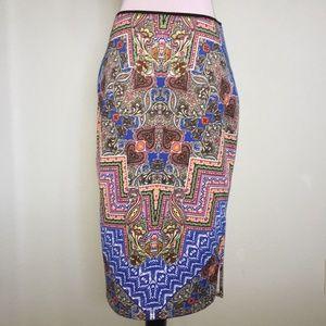 NWT Bisou Bisou paisley pencil skirt